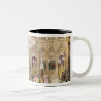 Greek Church of the Holy Sepulchre, Jerusalem, Apr Two-Tone Coffee Mug