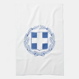 Greek coat of arms tea towel