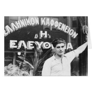 Greek Coffee Shop Owner 1937 Card