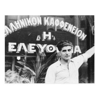 Greek Coffee Shop Owner 1937 Post Cards