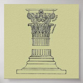 Greek Column Poster