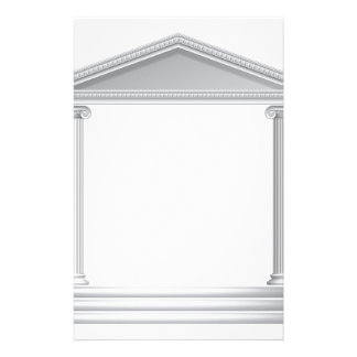 Greek Column Temple Customized Stationery