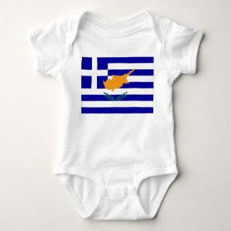 Greek Cyprus Flag Baby Bodysuit