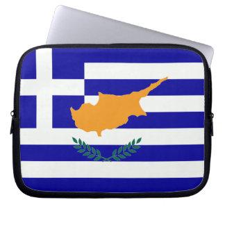 Greek Cyprus Flag Laptop Sleeve