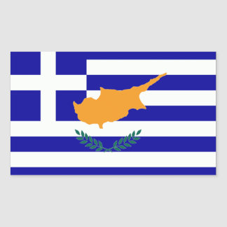 Greek Cyprus Flag Rectangular Sticker