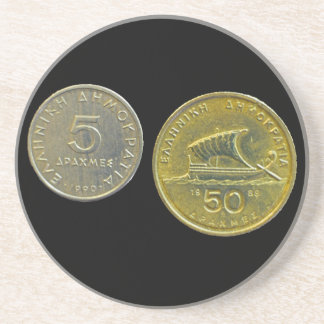 Greek Drachma Coins Coaster