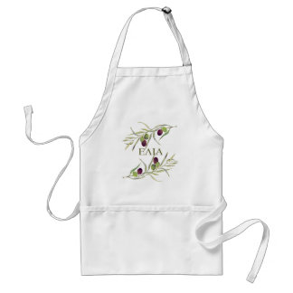 "Greek ""elia"" for ""olive"" - olive branch apron"