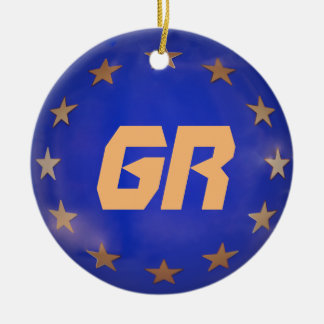 Greek European Union Christmas Ornament