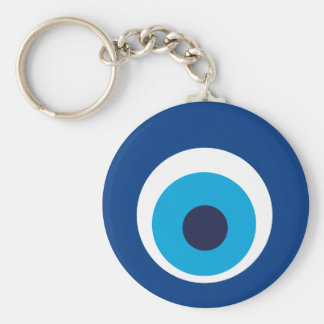 Greek eye key ring