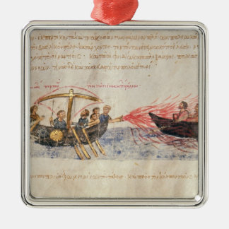 Greek fire (vellum) christmas ornament