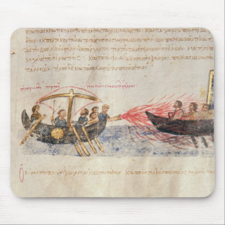 Greek fire (vellum) mouse pad