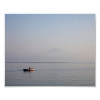 Greek Fisherman in Boat 10x8 Poster