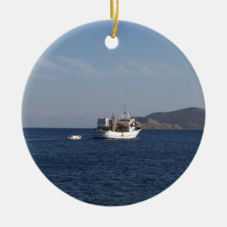 Greek Fishing Boat Christmas Ornament