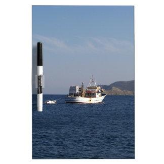 Greek Fishing Boat Dry Erase Board