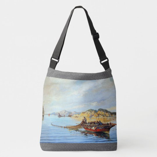 Greek Fishing Boats Ocean Fishermen Tote Bag