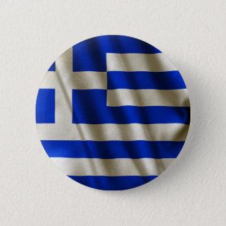 Greek Flag 6 Cm Round Badge