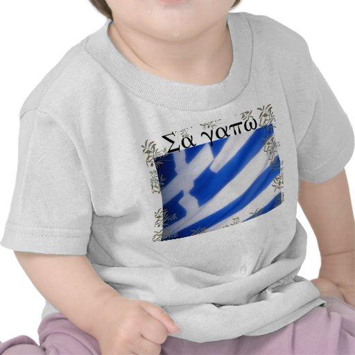 Greek Flag Baby Tees