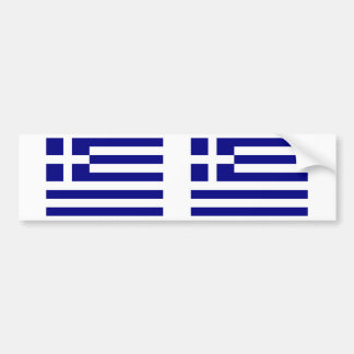 Greek Flag Bumper Sticker