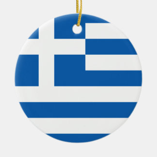 Greek flag custom Christmas tree ornament