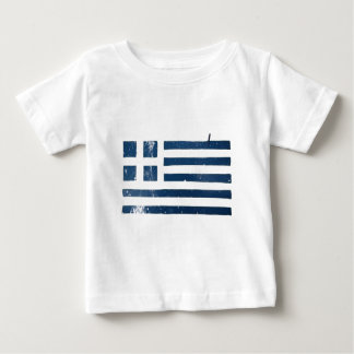 greek flag grunge stencil baby T-Shirt