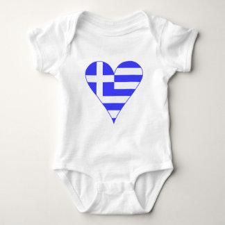 Greek Flag Heart Funky Baby Bodysuit