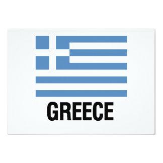 GREEK FLAG 13 CM X 18 CM INVITATION CARD