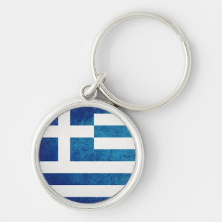 Greek Flag Key Ring