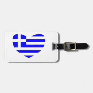 Greek Flag Luggage Tag