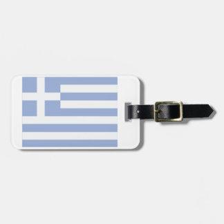 Greek Flag Luggage Tag