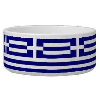 Greek Flag Pet Bowl