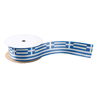 Greek flag ribbon satin ribbon