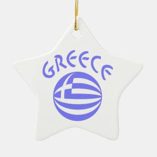 Greek Flag Sphere Christmas Ornament
