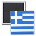 Greek Flag Square Magnet