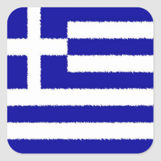 Greek Flag Square Sticker