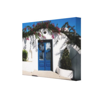 Greek Gate in Míkonos Canvas Stretched Canvas Prints