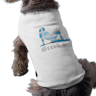 Greek Girl Silhouette Flag Sleeveless Dog Shirt