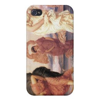 Greek Girls Picking up Pebbles - Frederic Leighton iPhone 4 Case