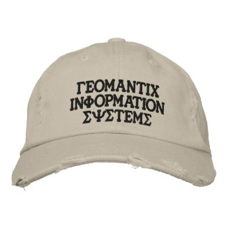 Greek GIS hat Embroidered Hat