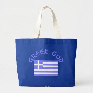 Greek God & Flag Large Tote Bag