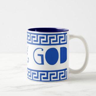 GREEK GOD GREEK KEY COFFEE MUG