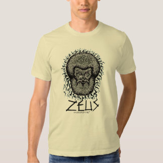 Greek God Zeus graphic art cool t-shirt