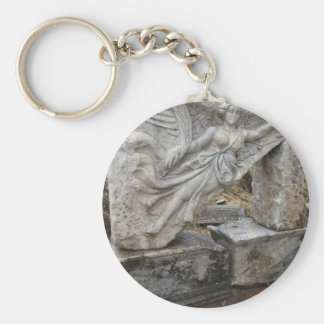 Greek Goddess Nike at Ephesus, Turkey Basic Round Button Key Ring