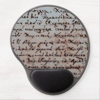 greek greece ancient hand writing text letters ink gel mouse pad
