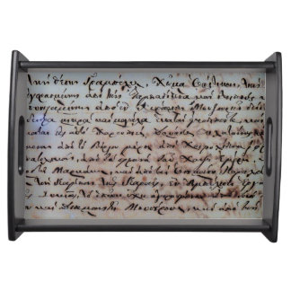 greek greece ancient hand writing text letters ink serving tray