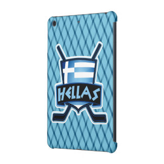 Greek Ice Hockey Flag Logo iPad Cover