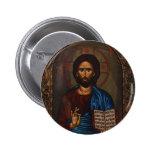 Greek ICON CHRIST 6 Cm Round Badge