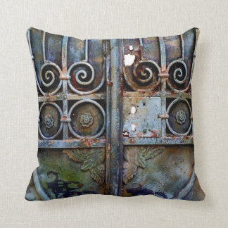 Greek iron door pillow. cushion
