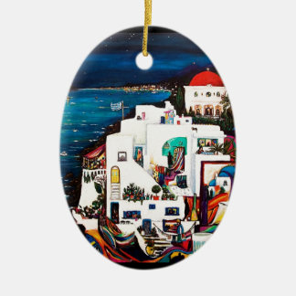 Greek Island Dreams Christmas Ornament