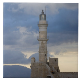 Greek Island of Crete and old town of Chania 2 Tile