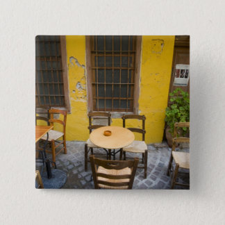 Greek Island of Crete and old town of Chania 3 15 Cm Square Badge